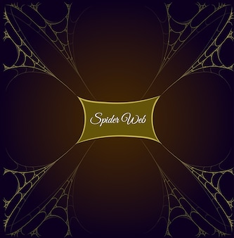 Gouden spinnenwebframe met middelste labelinhoud