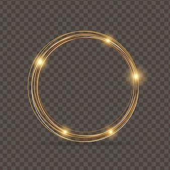 Gouden sprankelende glittercirkel.
