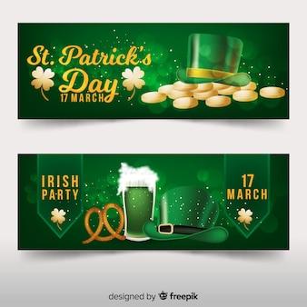 Gouden st patrick's banner
