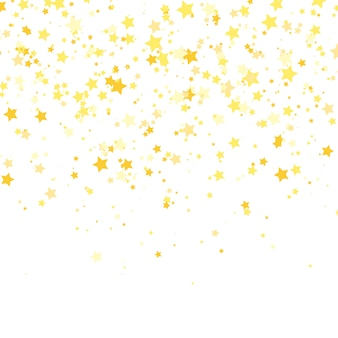 Gouden ster . glans confetti patroon.