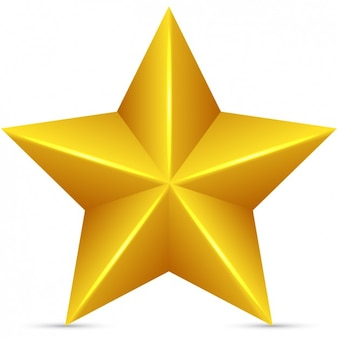 Gouden ster in 3d