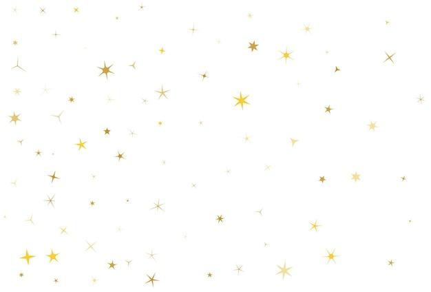Gouden ster stof sparkle vector op wit