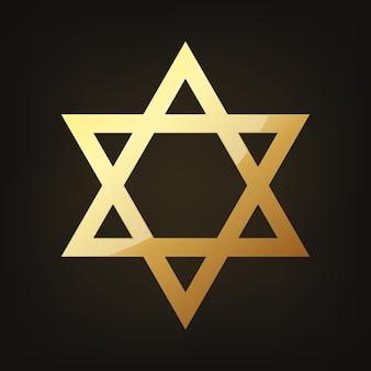 Gouden ster van david illustratie