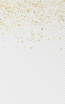 Gouden ster vieren geïsoleerd op transparante achtergrond