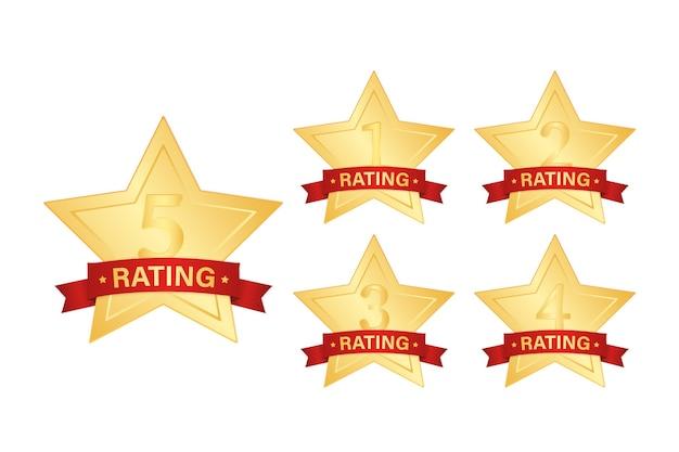 Gouden sterpictogram op witte achtergrond. heldere ster. award illustratie. illustratie.