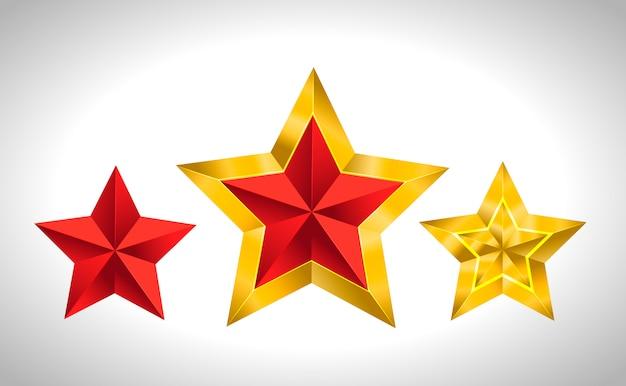 Gouden sterren kerstmis nieuwjaar vakantie 3d kerstmis