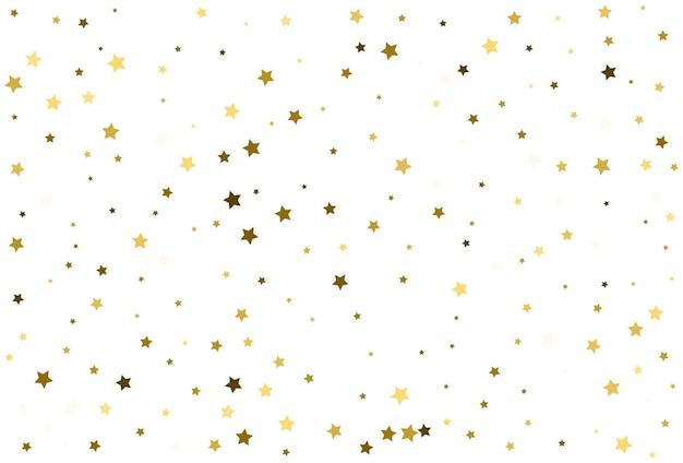 Gouden sterren vieren confetti vallende gouden abstracte decoratie voor feest
