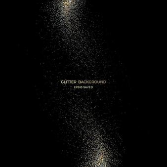 Gouden sterrenstof licht, glitter achtergrond