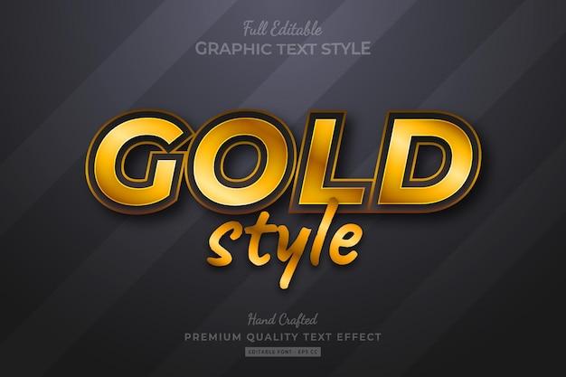 Gouden stijl bewerkbare premium tekst effect lettertype stijl
