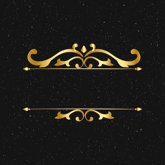Gouden stijlvolle frame ornamenten vintage