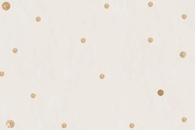Gouden stippen beige achtergrond vector