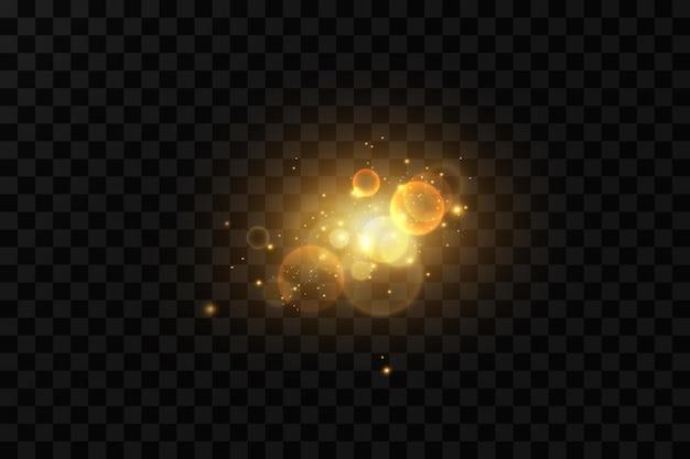 Gouden stof lichte deeltjes