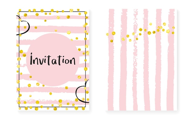 Gouden stofbanner. streep carnaval uitnodigen. 14 februari illustratie set. roze trendy flyer. rose vakantie behang. zwarte aanbieding. gouden merkkunst. roze gouden stofbanner