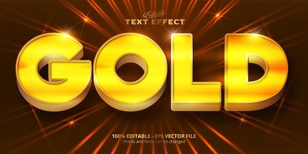 Gouden tekst, glanzend bewerkbaar teksteffect in gouden stijl