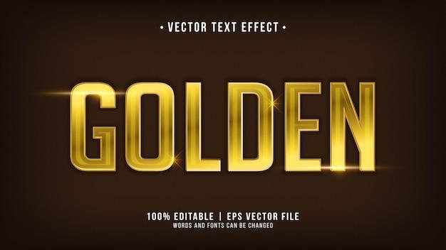Gouden teksteffect bewerkbaar
