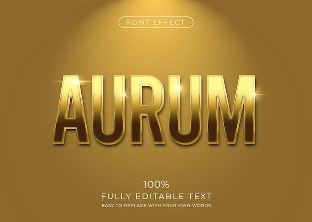 Gouden teksteffect. bewerkbare lettertypestijl