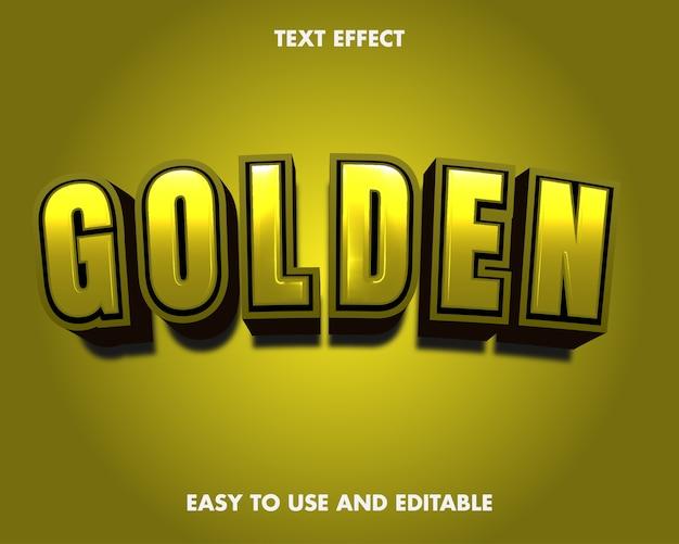 Gouden teksteffect. bewerkbare tekenstijl.