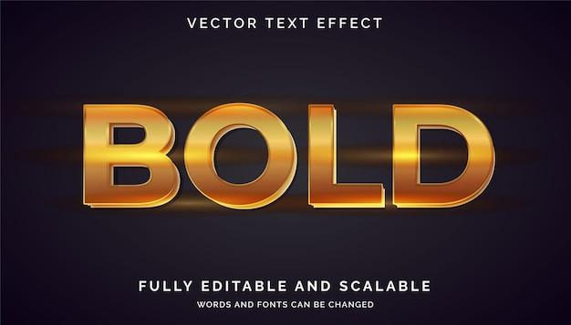 Gouden teksteffect bewerkbare tekst