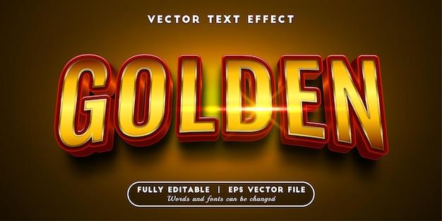 Gouden teksteffect, bewerkbare tekststijl