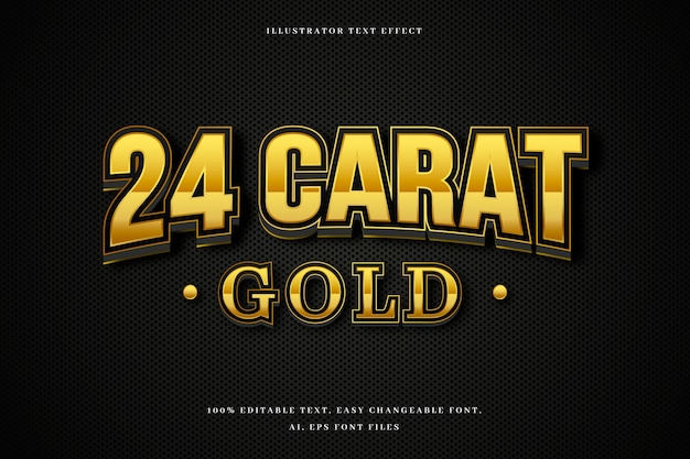Gouden teksteffect concept