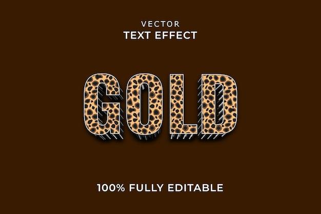 Gouden teksteffect eps