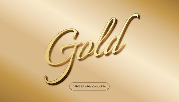 Gouden teksteffect vector. bewerkbare elegante en rijke tekststijl.