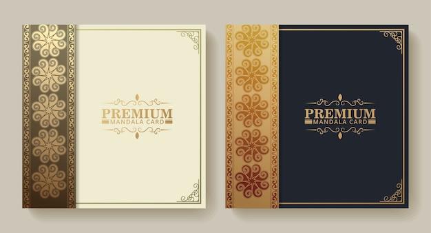Gouden textuur menu ontwerp