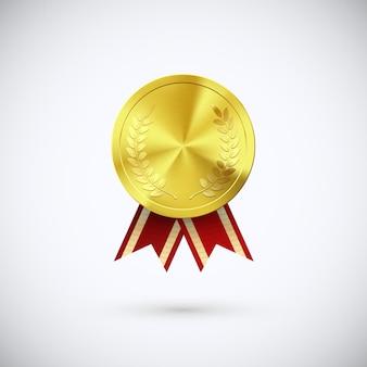 Gouden toekenningssymbool van overwinning en succes