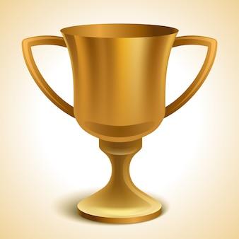 Gouden trofee cup