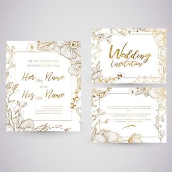Gouden trouwkaart