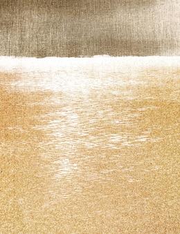 Gouden uur aan zee vintage illustratie, remix van originele kunstwerken.