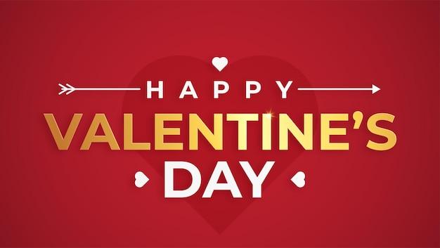 Gouden valentijnsdag wenskaart