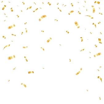 Gouden vallende confetti.