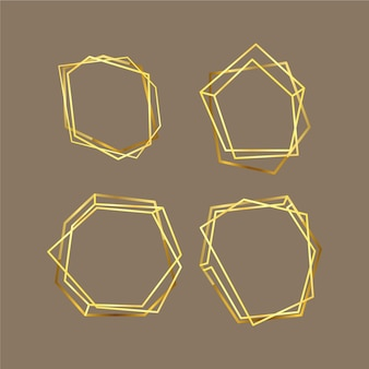 Gouden veelhoekige frame-collectie