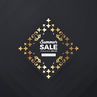 Gouden verkoop banner achtergrond