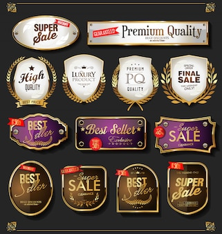 Gouden verkooplabels instellen
