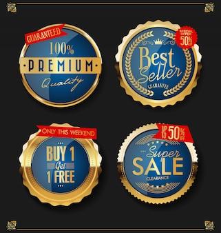 Gouden verkooplabels
