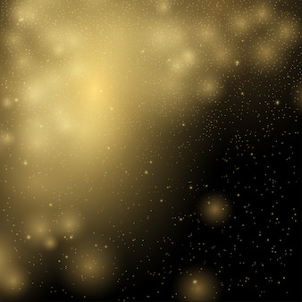 Gouden verlichting schittert