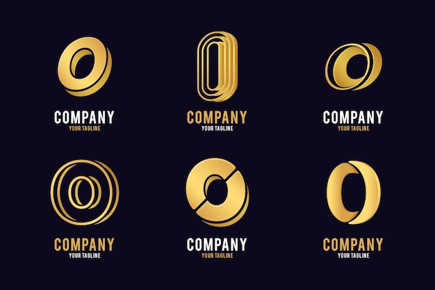 Gouden verloop o logo collectie