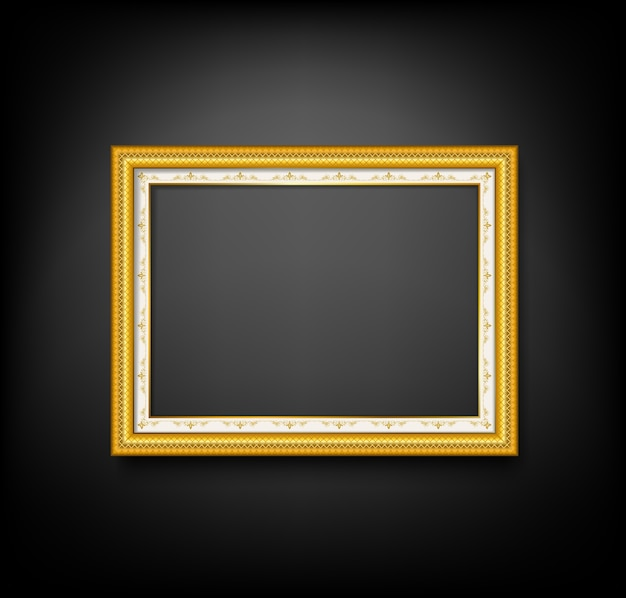 Gouden vintace fotolijst