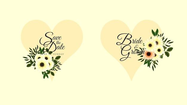 Gouden vintage label van bloemenframes in gedetailleerde stijl voor sociale media voor huwelijksuitnodigingen