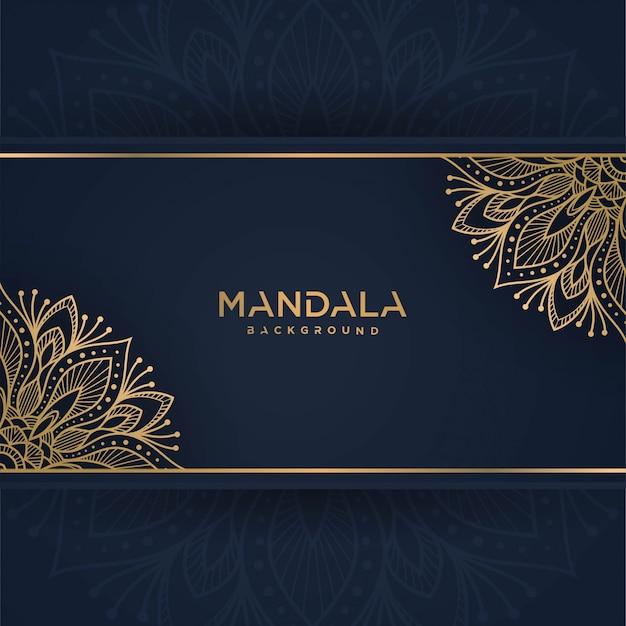 Gouden vintage wenskaart op een klassieke blauwe achtergrond