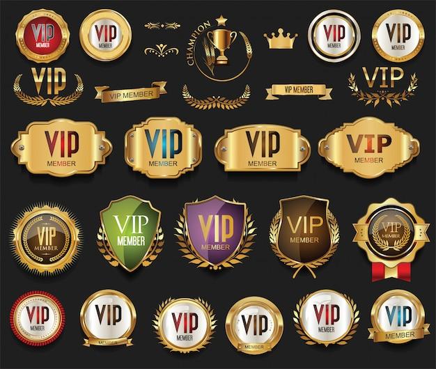 Gouden vip-labels