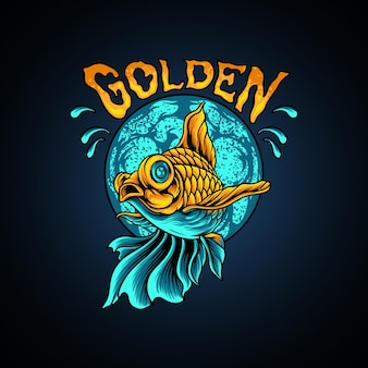 Gouden vis silhouet