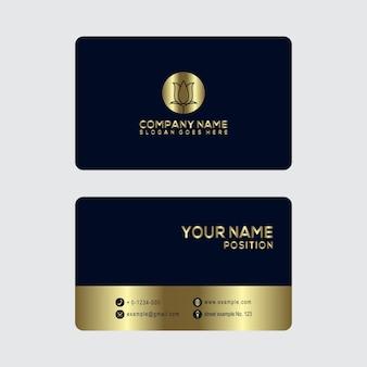 Gouden visitekaartje ontwerpsjabloon