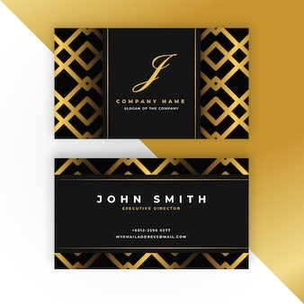 Gouden visitekaartje sjabloon