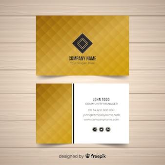 Gouden visitekaartjesjabloon