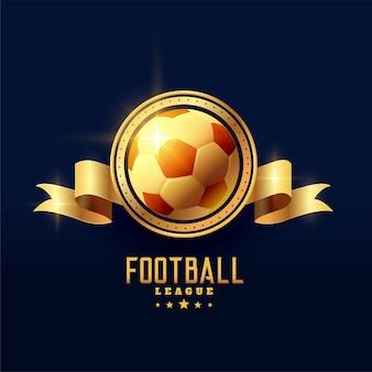 Gouden voetbal embleem badge symbool