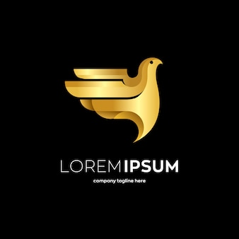 Gouden vogel logo
