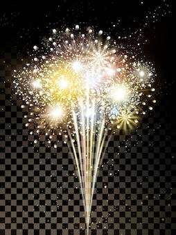 Gouden vuurwerkelementen voor festival en feest